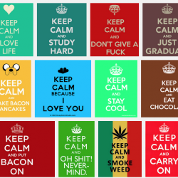screen shot of image search showing lots of variations on the keep calm meme
